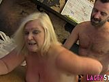 Wicked Granny doctor sucks willy and catches anal