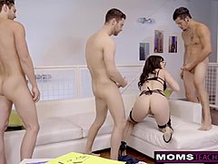 Cheating mamma goes to bed with Step Son And His intimates When Hubbys Away!