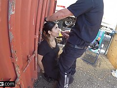 Screw the Cops - latina bad cutie noticed sucking in a cops winkle