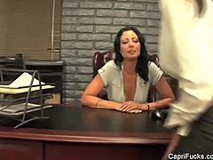Brunettes Capri and Zoey are buxom office gay girls mature sex