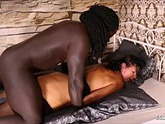 Voluptuos woman mama Lana harsh Fuck by vast weiner shaded complexion Freddy Gong