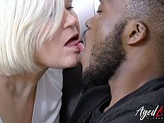 AgedLovE Lacey Starr acquires Interracial intensely