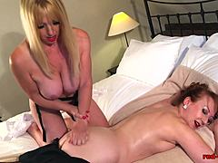 British red-haired Red gets hold of a carnal massage Mature Porn