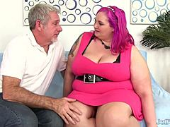 Vast Boobed Plumper Sara Star Slams Her cooter Down on a Thick jock mature porn videos