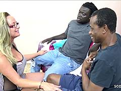 SAGGY jugs mature professor - trio 2 males 1 female Fuck by BBC cronies mom sex